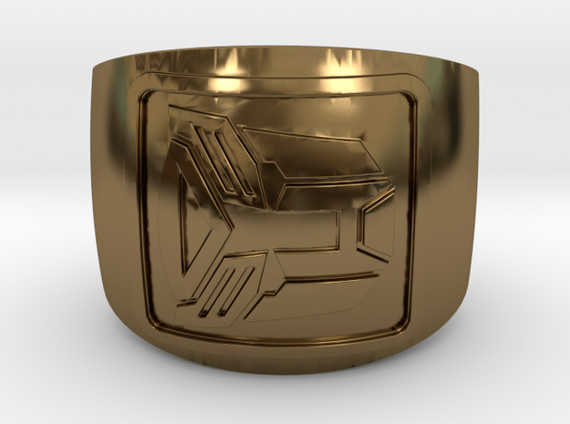 Autobot Ring in Polished Bronze