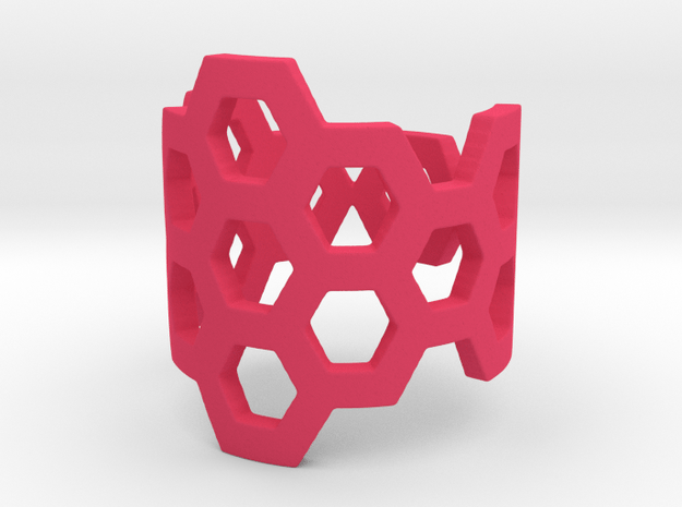 Polyaromatic Hydrocarbon Ring (Size 5.5) in Pink Processed Versatile Plastic
