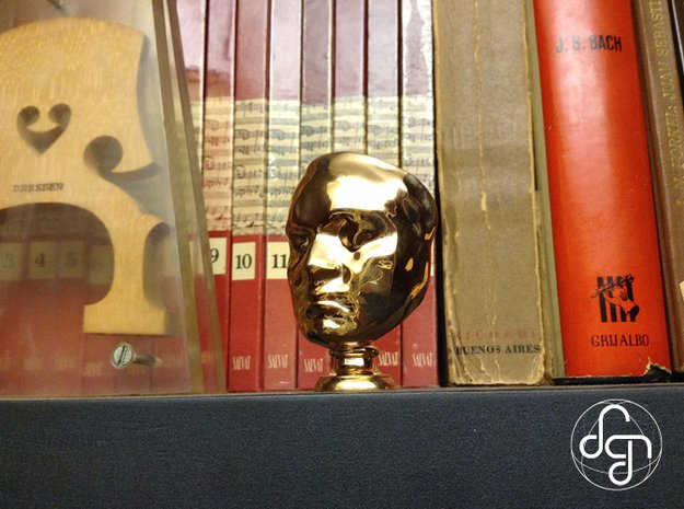 Beethoven's Life Mask [6cm] Hollow in Polished Bronze