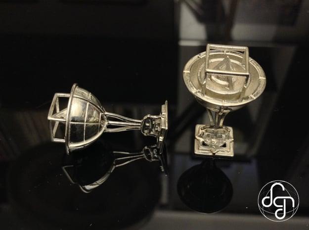 Keplerian Cufflinks in Polished Silver