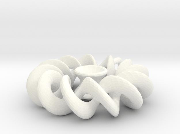 Pendant2 in White Processed Versatile Plastic