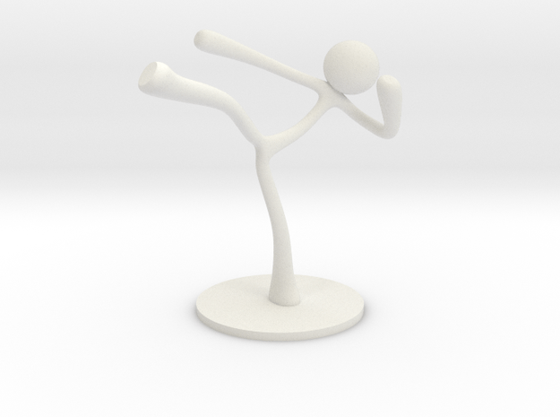 MTI Stickman-poses02 in White Natural Versatile Plastic