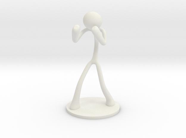 MTI Stickman-poses03 in White Natural Versatile Plastic