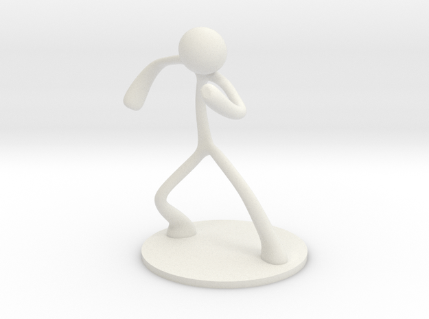 MTI Stickman-poses04 in White Natural Versatile Plastic