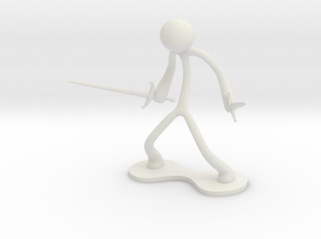 MTI Stickman-poses05 in White Natural Versatile Plastic