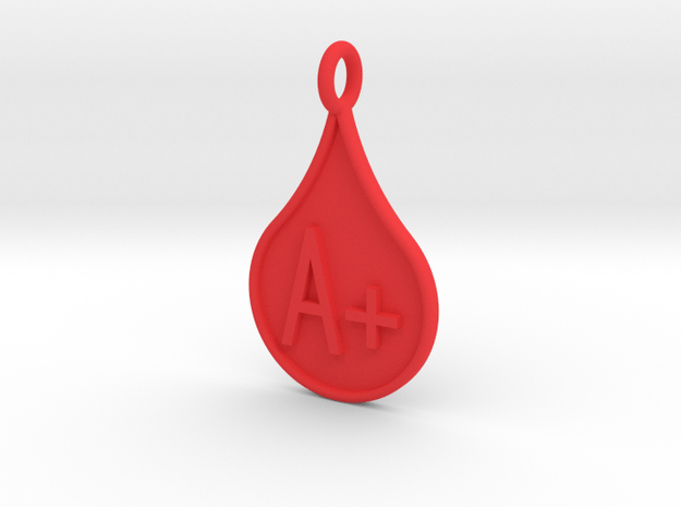 Blood type A+ in Red Processed Versatile Plastic