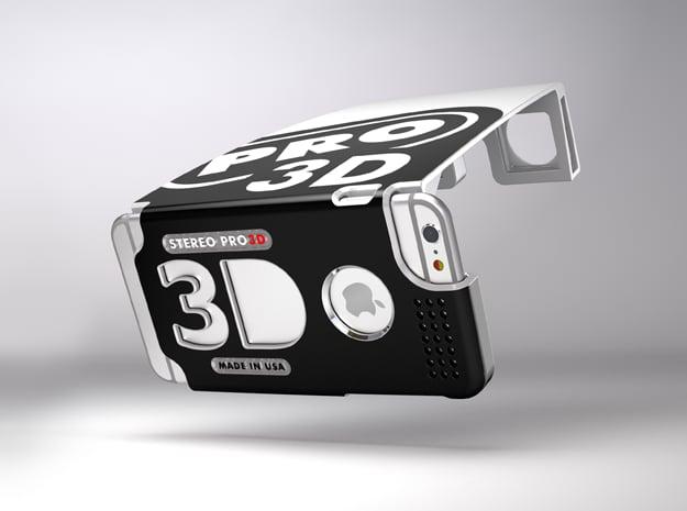 Stereoscopic attachment for iPhone 6 Plus in White Natural Versatile Plastic