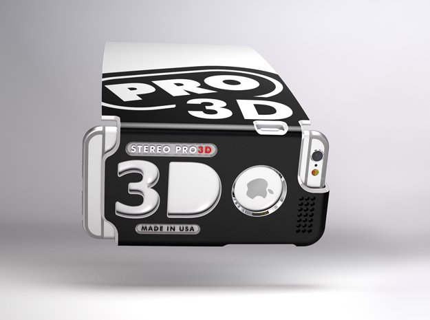Stereoscopic attachment for iPhone 6 in White Natural Versatile Plastic