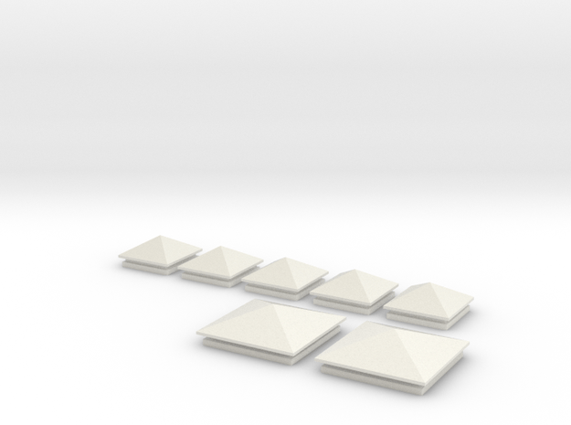 Säulenkappe 20x20 und 30x30 in White Natural Versatile Plastic