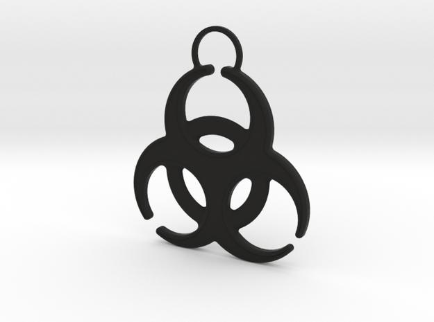 QUARANTINED - BioHazard Keychain in Black Natural Versatile Plastic