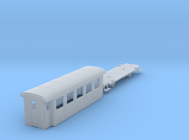ZB (H0e) - 5-Fenster-Personenwagen B19 (neu) in Smooth Fine Detail Plastic