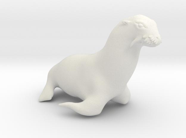 Sea Lion, 1/32 Scale in White Natural Versatile Plastic