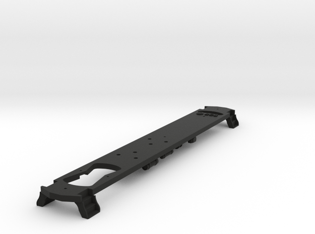 HO Scale L&WV FRAME for Long Cars in Black Natural Versatile Plastic