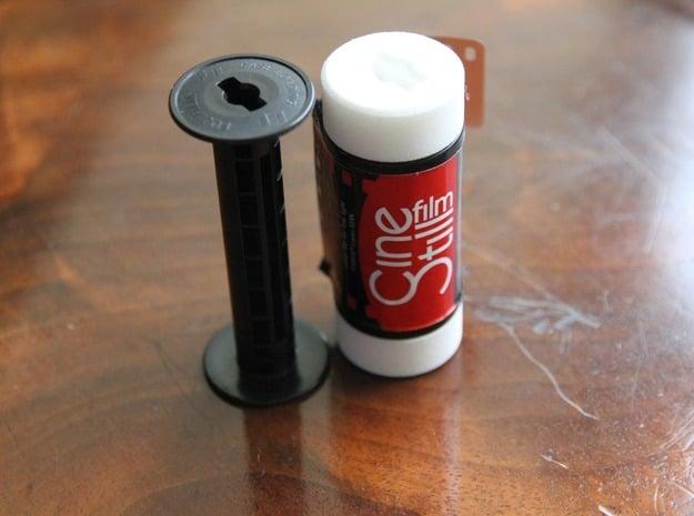 35mm Film to 120 Spool Adapter in White Natural Versatile Plastic