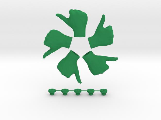 Awesome!  • Hook  / Fridge Magnet [5pcs] in Green Processed Versatile Plastic