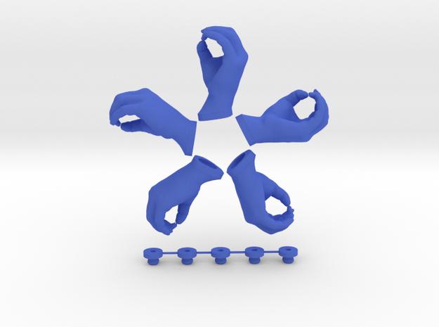 Let Me Grab You!  • Hook  / Fridge Magnet [5pcs] in Blue Processed Versatile Plastic