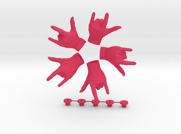 Respect  • Hook  / Fridge Magnet [5pcs] in Pink Processed Versatile Plastic