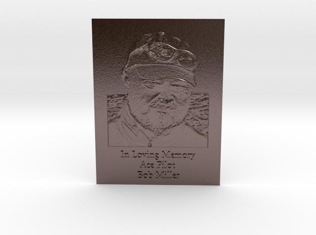 Bob Miller Memorial Engraved in Polished Bronze Steel