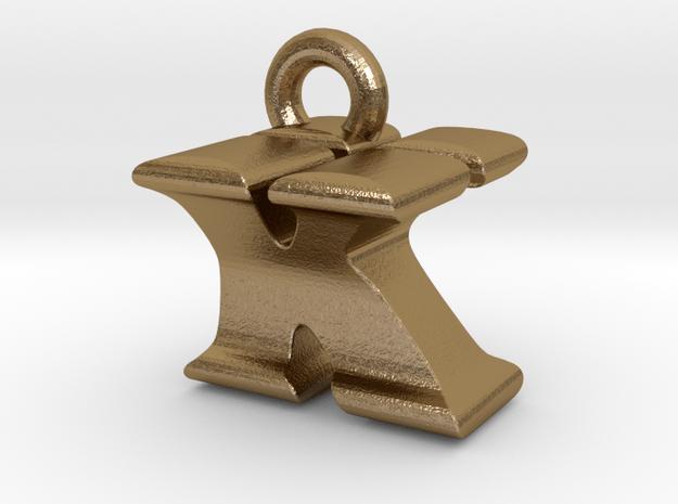 3D Monogram Pendant - KYF1 in Polished Gold Steel