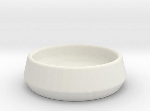 ServeConeDoubleDish-10-3 in White Natural Versatile Plastic