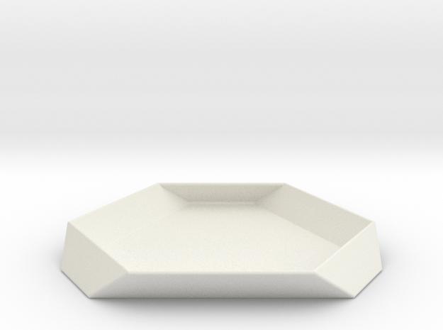 ServeCubeRotatedLikesided in White Natural Versatile Plastic