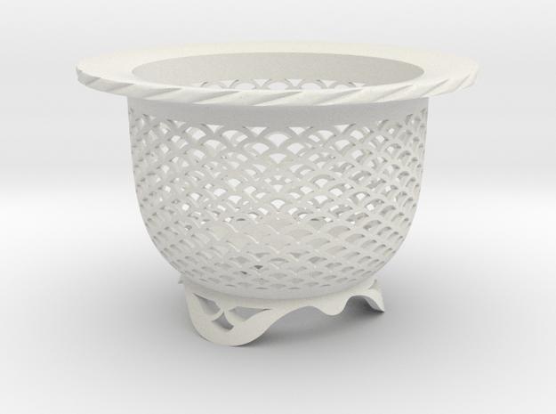 "Neo Pot - Model 4 - Size 2.5 (2.5"" ID) in White Natural Versatile Plastic"