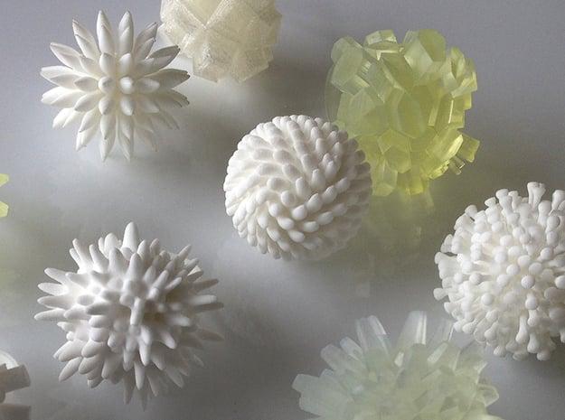Coney Ring in White Natural Versatile Plastic