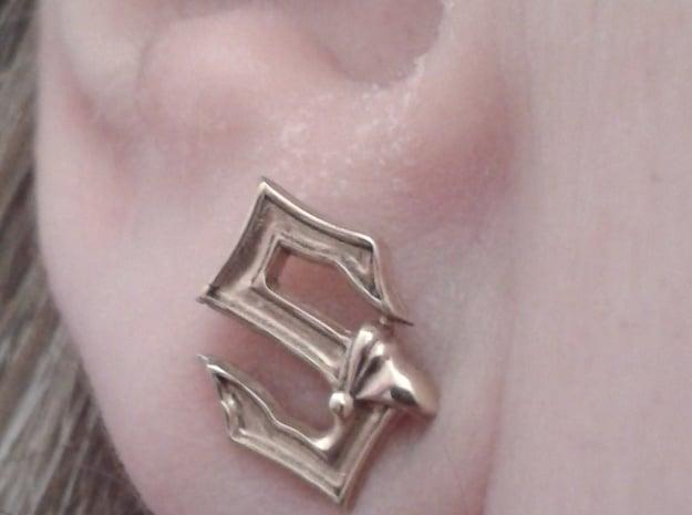 Sabaton Pin Earring in Natural Silver