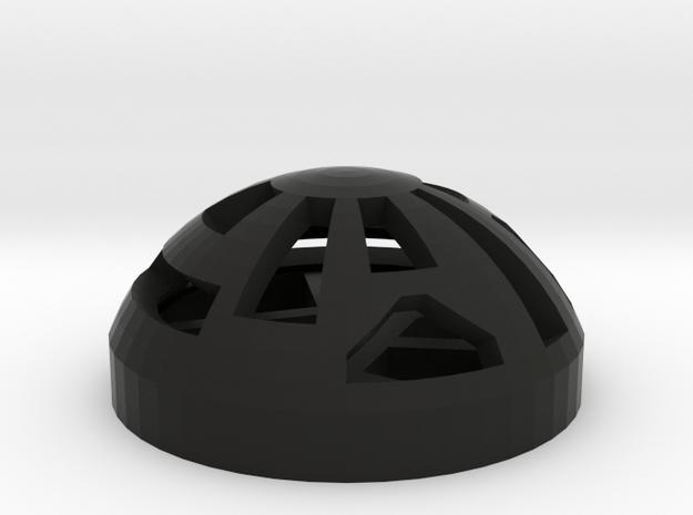 Button Dome in Black Natural Versatile Plastic