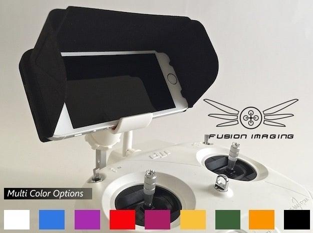 iPhone 5 / 5s Visor / FPV Deep Hood - Easy Glide in Black Natural Versatile Plastic
