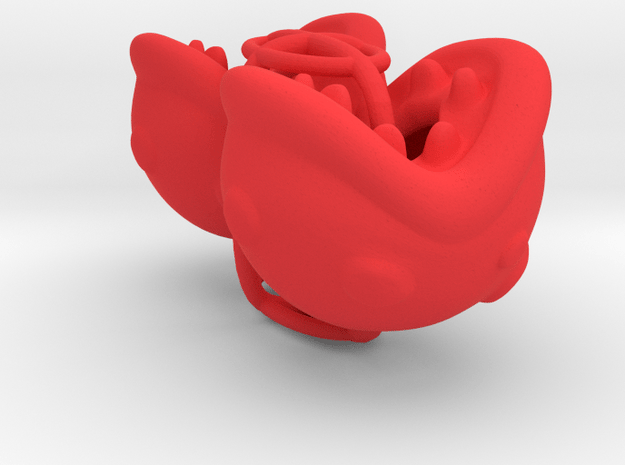 Man-eating Plant Bike Valve Caps - Heads Only in Red Processed Versatile Plastic