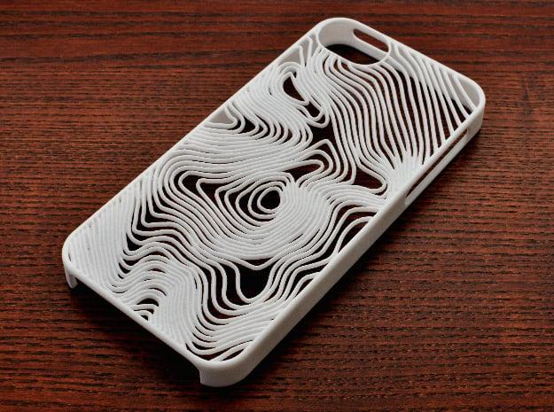 Åreskutan Contours iPhone 5 Case in White Natural Versatile Plastic
