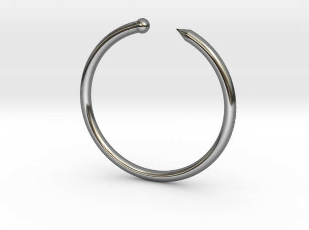 Serpent Ring - Sz. 5 in Fine Detail Polished Silver