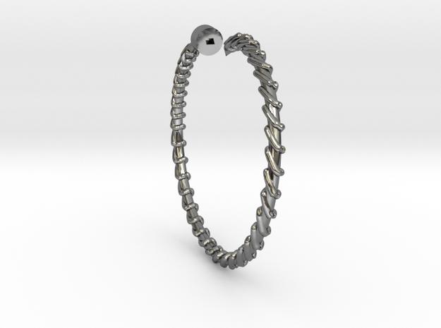 Dainty Screw Ring - Sz. 9 in Fine Detail Polished Silver