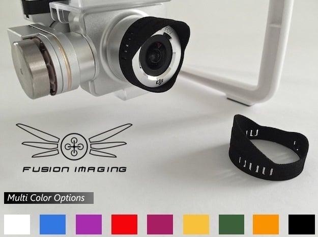 14x. DJI Phantom Vision 2 + Lens Hood 'Slim' in Black Natural Versatile Plastic