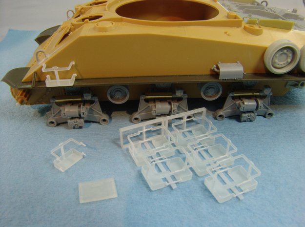 IDF M50/M51 Sherman / Tiran jerry canrack set 1/35 in Smooth Fine Detail Plastic