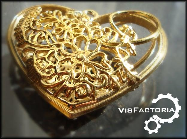 Elven Heart in Polished Brass
