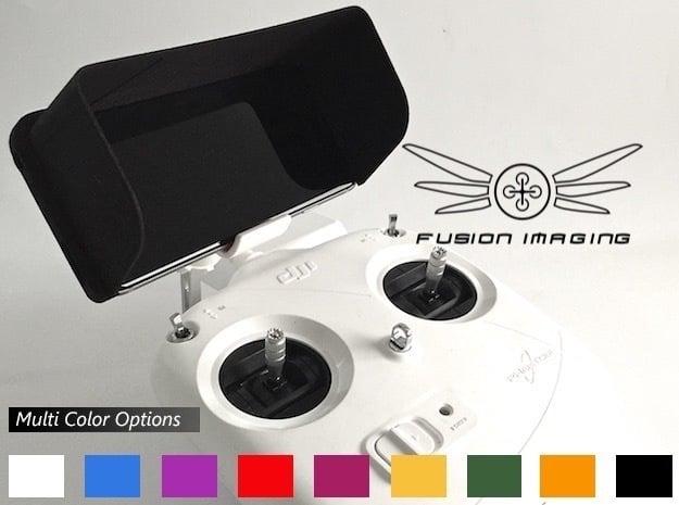 iPhone 6/6s Visor / FPV Deep Hood - Easy Glide in Black Natural Versatile Plastic