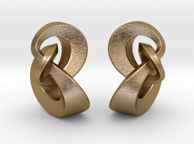 Double Knot Pendant in Polished Gold Steel