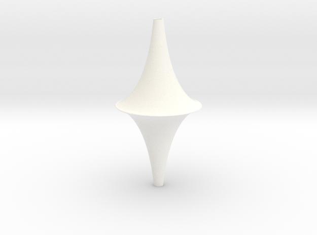 The Pseudosphere in White Processed Versatile Plastic