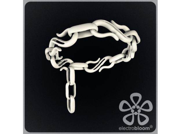 S Hook chain bracelet. in White Natural Versatile Plastic