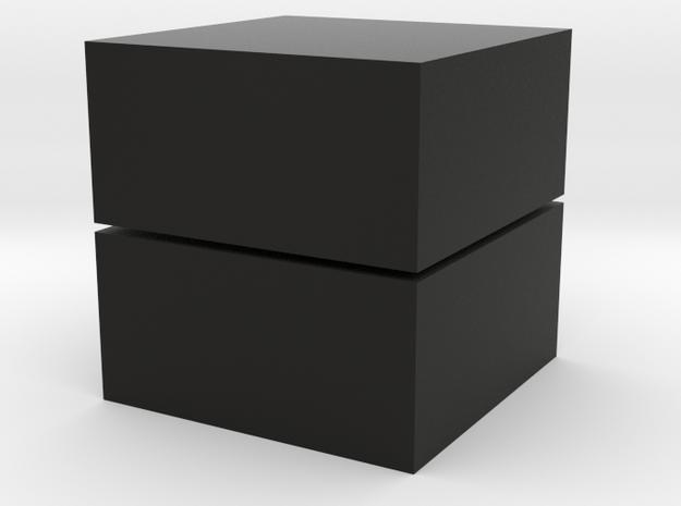 Cubic 1x1x2 4cm in Black Natural Versatile Plastic