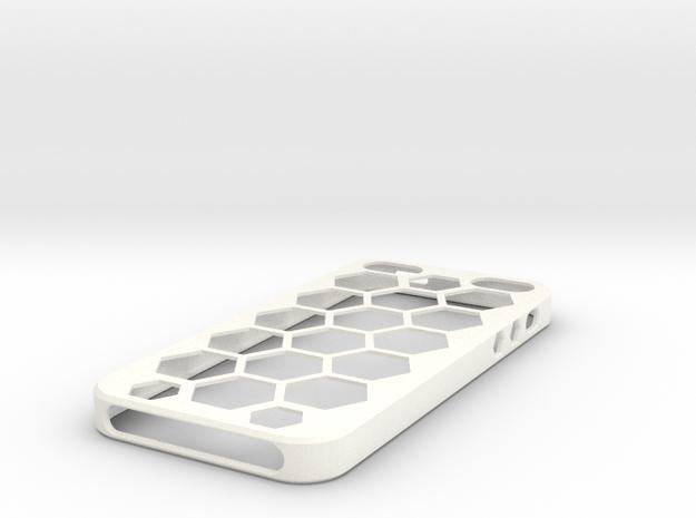 Iphone5 Case Waben in White Processed Versatile Plastic