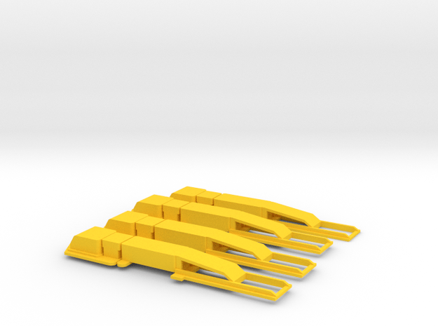O Gauge AWS Magnets in Yellow Processed Versatile Plastic