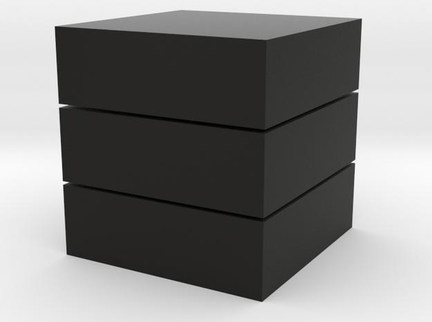 Cubic 1x1x3 4cm in Black Natural Versatile Plastic