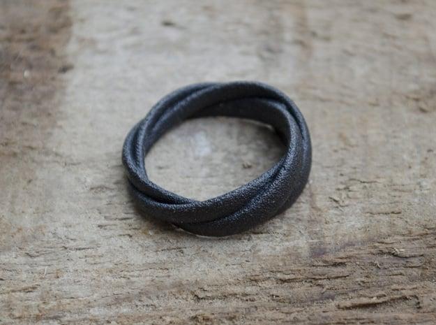 TORUSRING II  (18,5 mm)  in Matte Black Steel