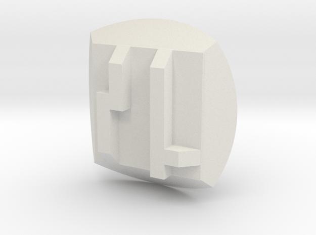 Bionicle - Nuva Symbol - Stone in White Natural Versatile Plastic