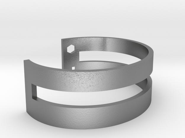Simple Bracelet in Natural Silver