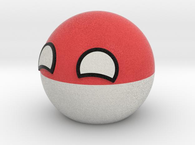 Polandball in Full Color Sandstone