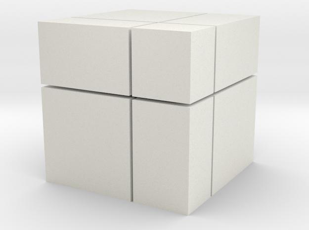 Mirror Blocks 2x2 in White Natural Versatile Plastic